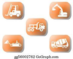 Cement-Truck - Orange Construction Buttons