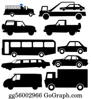 Tow-Truck - Assorted Vehicle Silhouettes