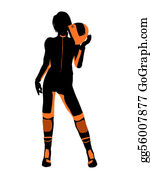 Motorcycle - Female Motorcycle Rider Art Illustration Silhouette