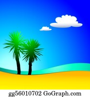A-Palm-Tree-Sign-In-Yellow-And-Black - Background