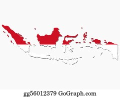 Indonesia - Indonesia Map Flag