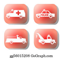 Tow-Truck - Emergency Button Illustration