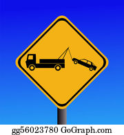 Tow-Truck - Tow Away Zone Sign