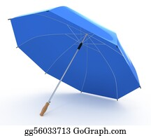 Umbrella - Opened Blue Umbrella