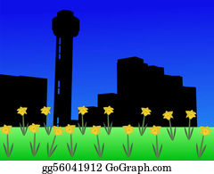 Daffodil - Reunion Tower In Spring