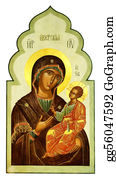 Baby-Jesus - Iberian Icon Of The Mother Of God And Jesus Christ