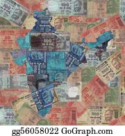 Map-Of-India - India Map With Rupees