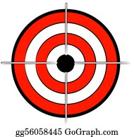 Bullseye - Red White And Black Bullseye Target