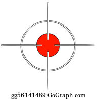 Bullseye - Gun Target Or Cross Hairs With Red Mark -