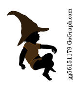 Babies-And-Toddlers-Silhouettes - Male Hallowen Infant Toddler Illustration Silhouette