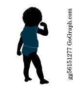 Babies-And-Toddlers-Silhouettes - African American Male Infant Toddler Illustration Silhouette
