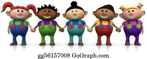 Multi-Ethnic-Group - Kids Holding Hands