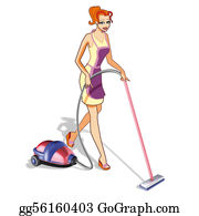 Hoover - Woman With Vacuum Cleaner