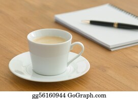 Utensils -  White Coffee Cup In A Business Set
