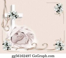 Feet - Baby Christening Invitation