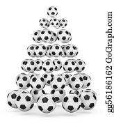 Football-Abstract - Soccer Themed Christmas Tree