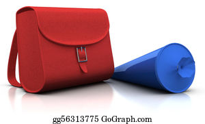 First-Day-Of-School - Red Satchel And Blue 'schultuete'