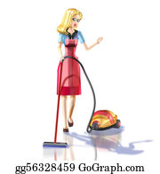 Hoover - Girl With Vacuum Cleaner