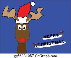 Reindeer-Christmas-Silhouettes - Reindeer Christmas Card