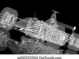 Race-Car - Wireframe Formula One