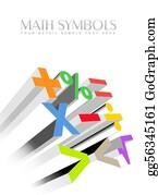 Text-Dividers - 3d Colorful Math Symbols