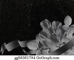 Headstone - Decorated Granite