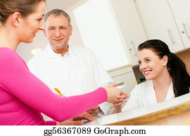 Health-Insurance-Card - Woman At Reception Of Clinic
