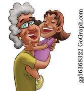 Granddaughter - Grandmother And Girl