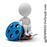Movie-Production - 3d Small People - Film Reel