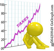 Income-Tax - High Tax Increase Chart Ruin 3d Taxpayer