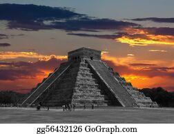 Cancun - The Temples Of Chichen Itza Temple In Mexico