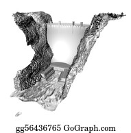 Hoover - 3d Greyscale Dam
