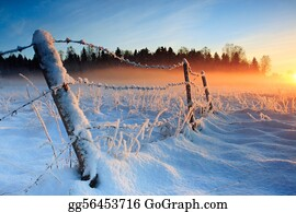 Freezing-Cold - Warm Cold Winter Sunset