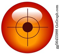 Bullseye - Red Bullseye Or Target Web Button Or Icon