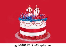Birthday-Suit - Number 20 Celebration Cake