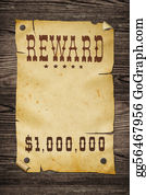 Tack - Old Western Reward Sign.