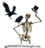 Mr-And-Mrs - Mr Skeleton With Ravens