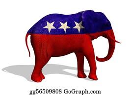 Blue-Elephant - Republican Elephant