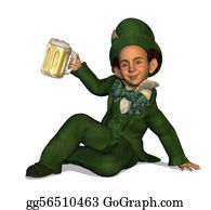 Beer - Leprechaun With Beer