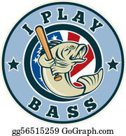 Largemouth-Bass - Largemouth Bass Playing Baseball