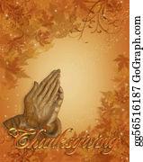 Fall-Harvest-Background - Thanksgiving Border Praying Hands