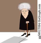 Geriatrics - Cranky Old Lady With Cane
