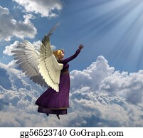 Heavenly - Angel Reaching For Heavenly Light