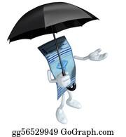 Prescription-Drugs - Medical Prescription With Umbrella