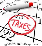 Tax-Return - Calendar - Tax Day Circled
