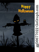 Scary-Pumpkin - Halloween Scarecrow