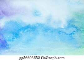 Wash - Color Strokes Watercolor Painting Art