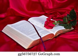 Christ-Is-Risen - Red Rose On Bible