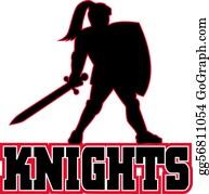 Knights - Knight Sword Shield Side
