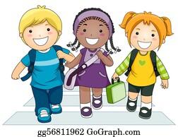 Lane - Kids Going To School